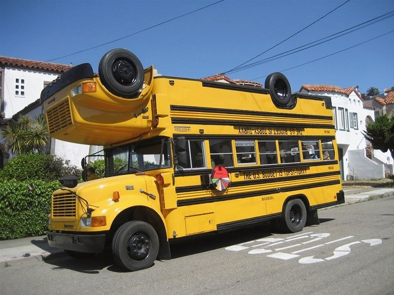 Weird Upside-Down Bus