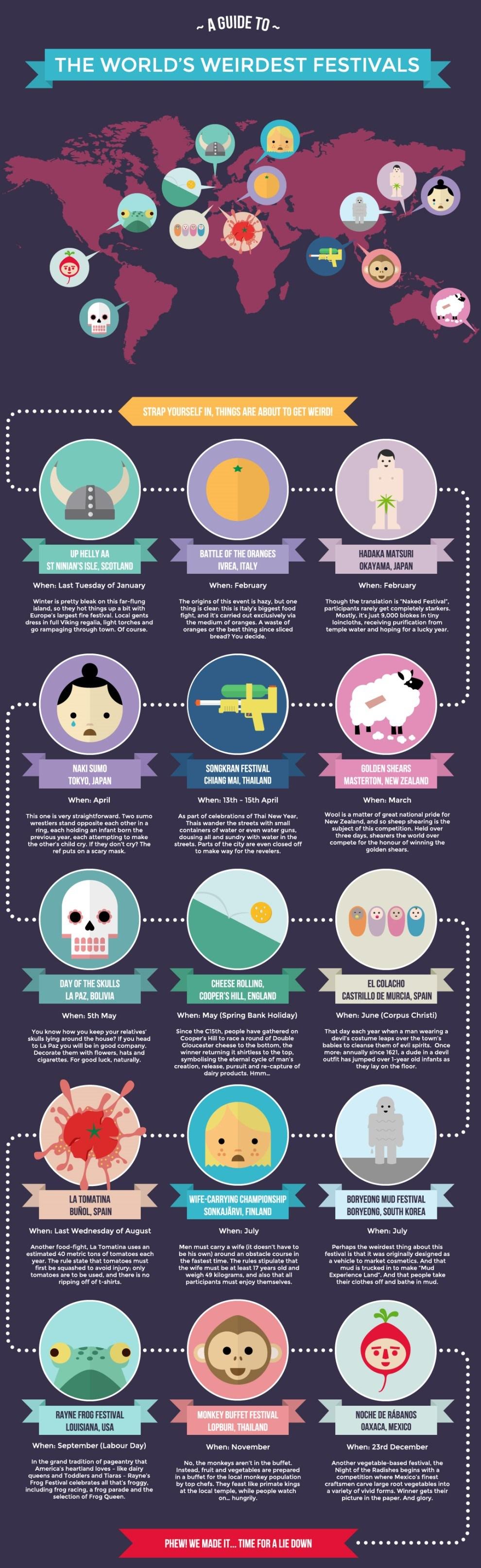 Worlds Weirdest Festivals Infograph