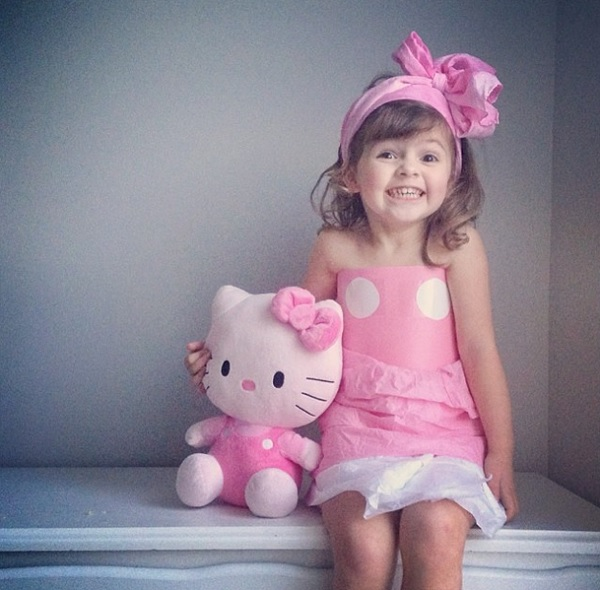 4-Year-Old Mayhem as Hello Kitty