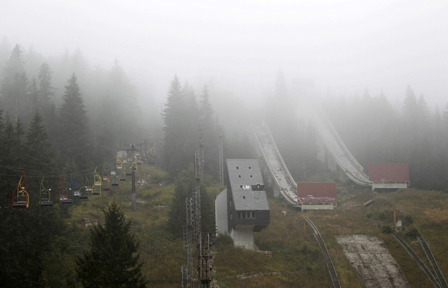 Abandoned Olympics Sarajevo Ski Jump