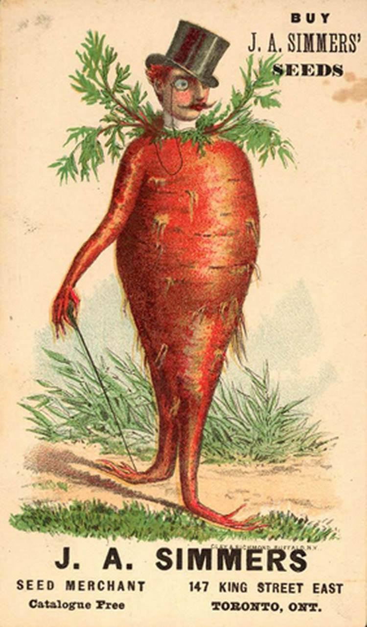 Bizarre Vintage Ads Carrot Man