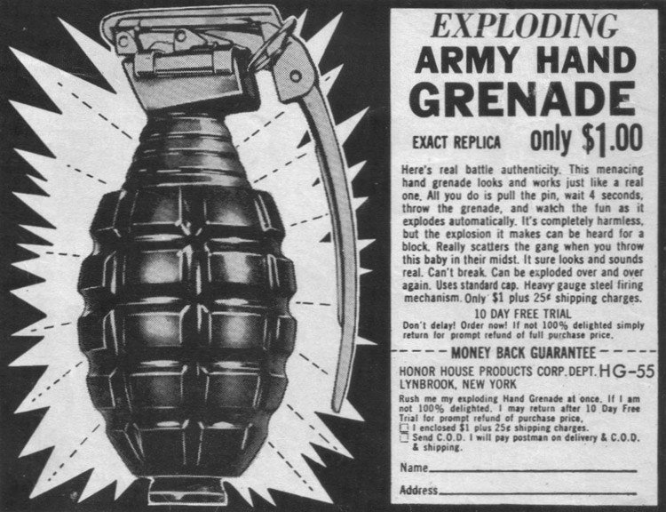 Print Ad For A Grenade
