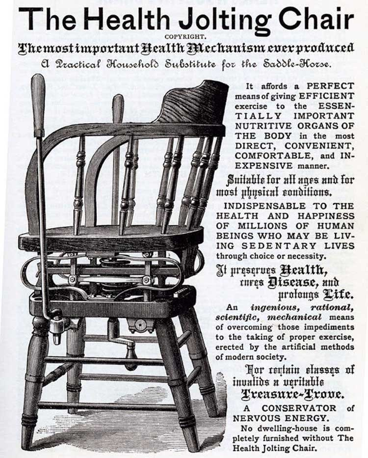 Bizarre Vintage Ads Jolting Chair