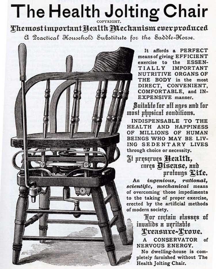 Bizarre Vintage Ads Jolting Chair