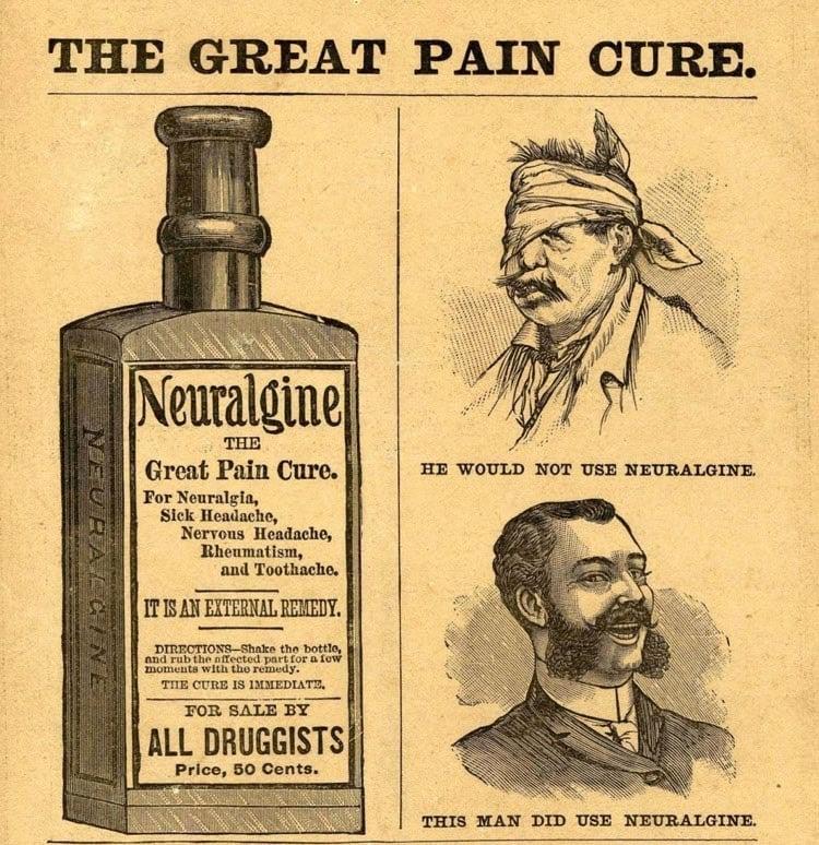 Bizarre Print Ads Pain Cure