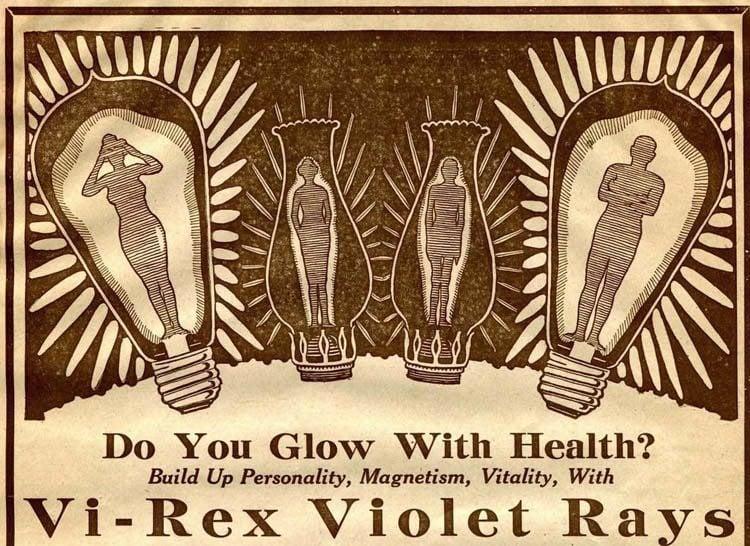 Bizarre Vintage Ads Violet Rayas