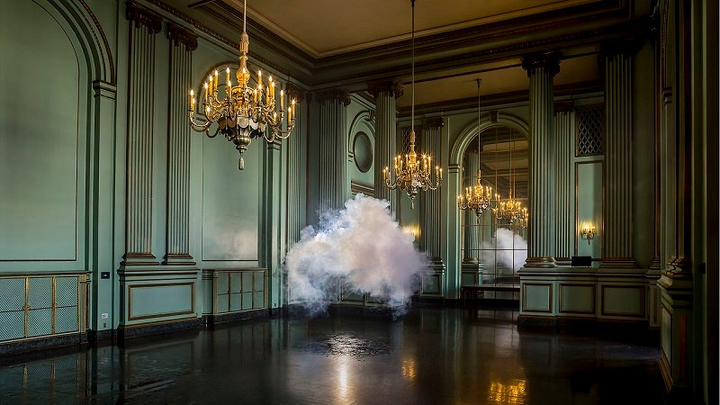 Indoor Clouds in Ballroom