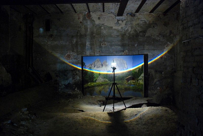 Surreal Rainbows by Berndnaut Smilde