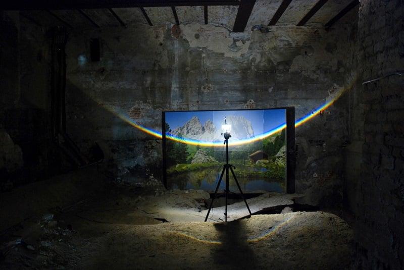 Surreal Rainbows by Berndnaut Smilde