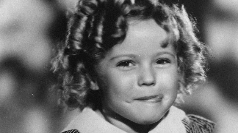 Adorable Shirley Temple in Black and White
