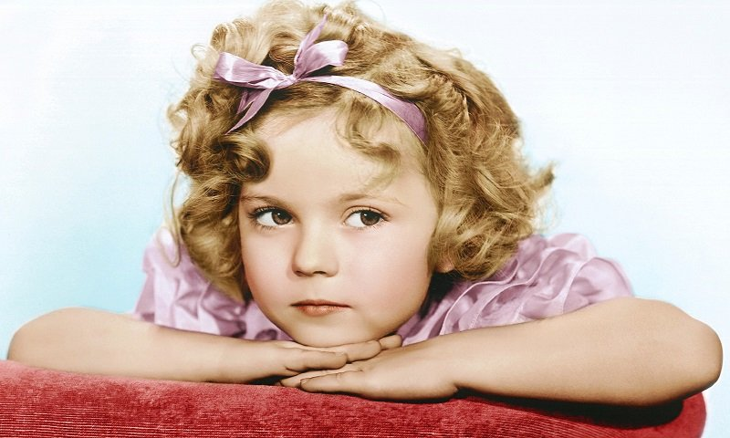 Young Shirley Temple Black Portrait