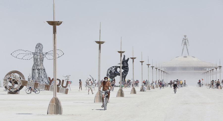 Broad View Burning Man