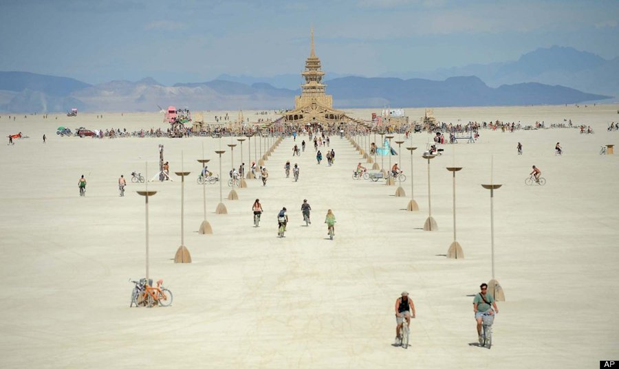 Building Walkway At Burning Man