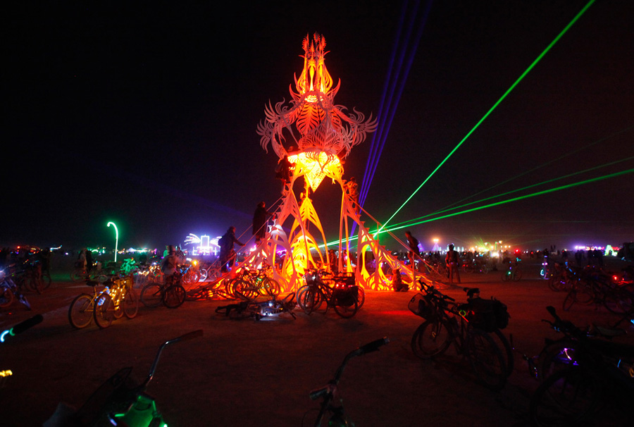 Burning Man Laser Lights