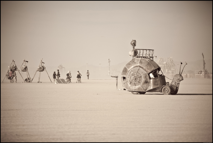 Burning Man Snail Car