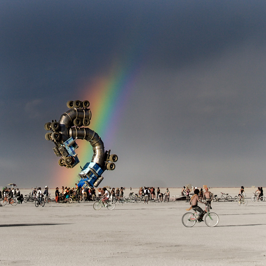 Truck Sculpture At Burning Man Festival