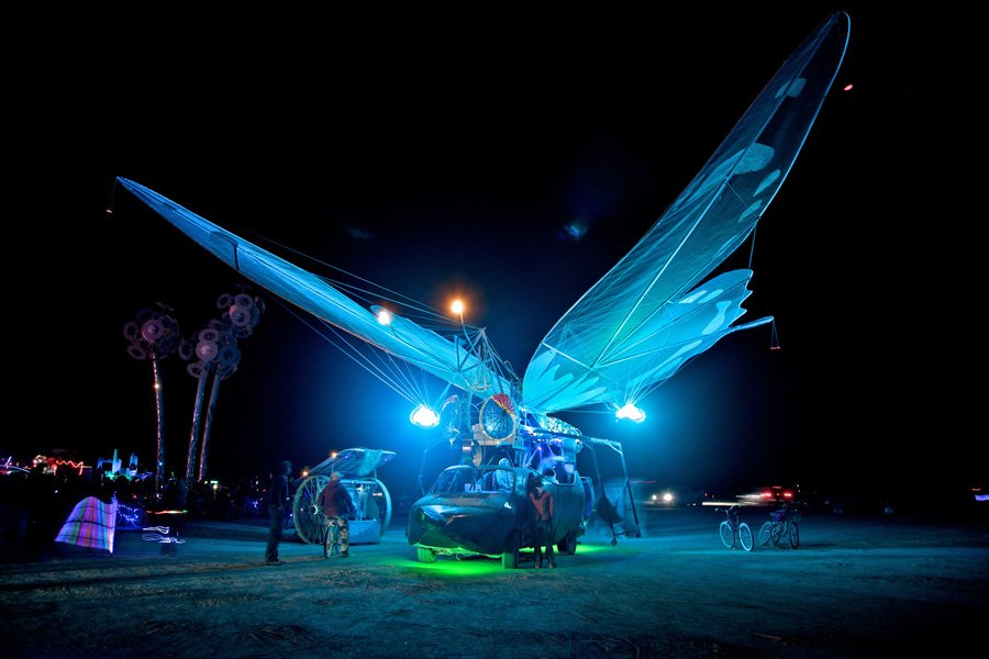 Burning Man Winged Bus
