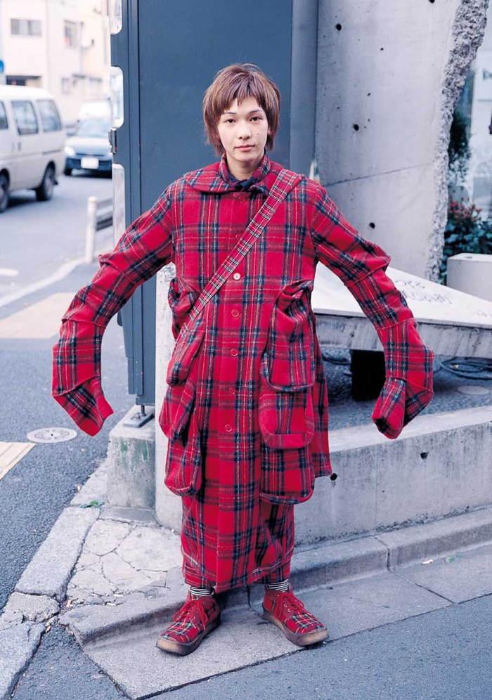 Red Plaid Harajuku Fashion