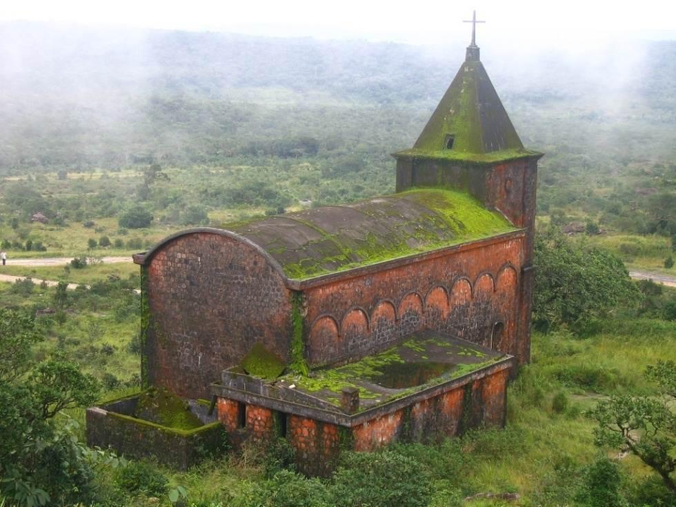 The Eerie Face Of Bokor Church, Cambodia