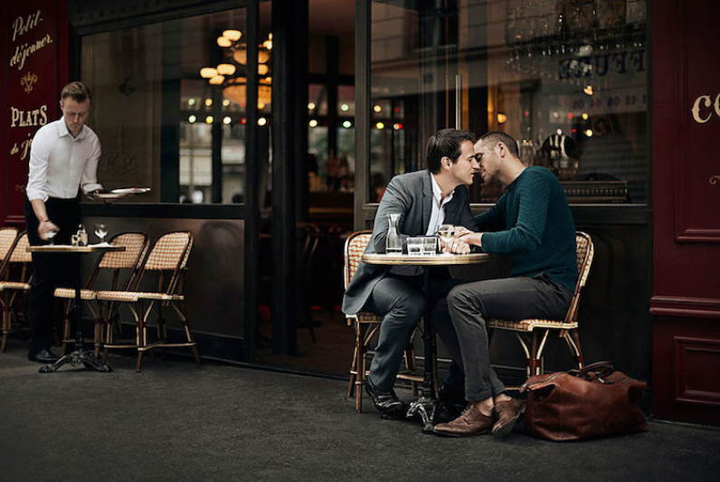French Cafe Couple