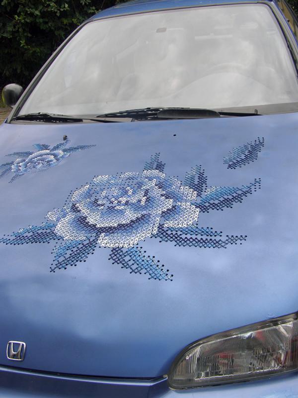 Cross-Stitch Metal Car