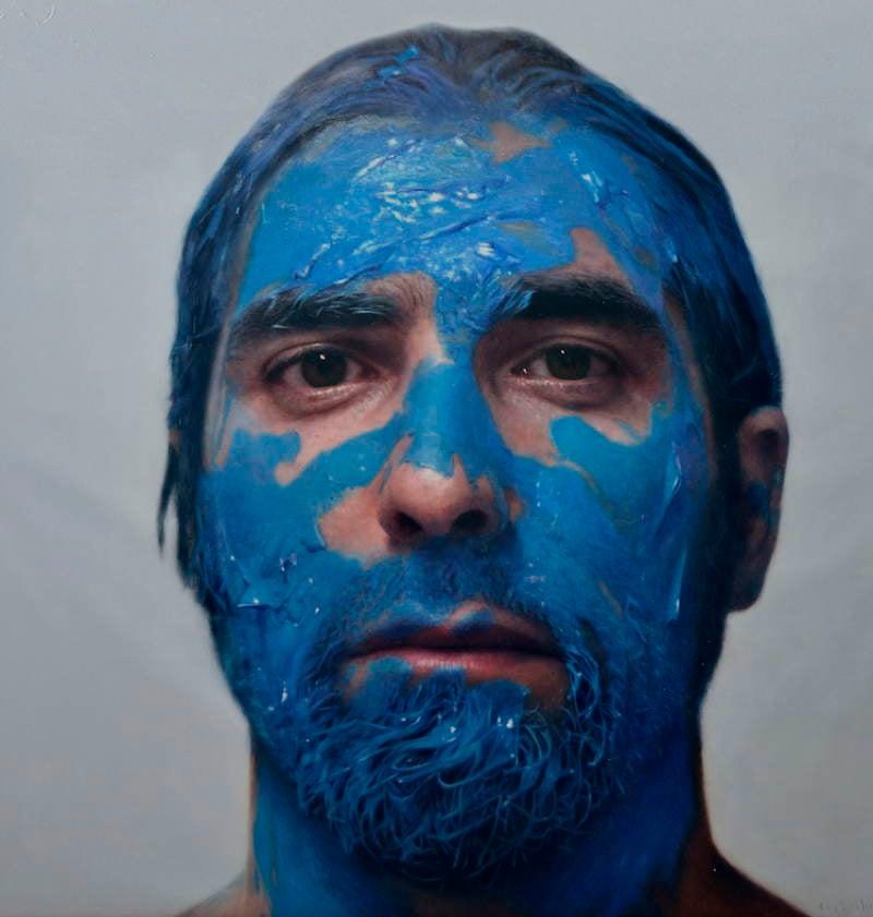 Eloy Morales Blue Paint