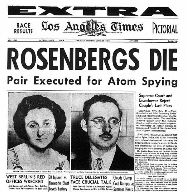 Famous Spies Rosenberg Newspaper