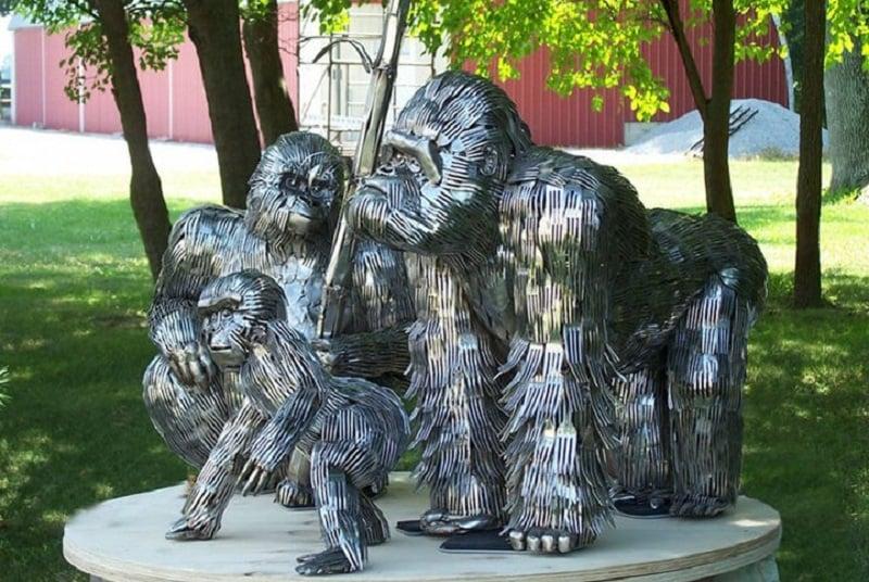 Gorilla Flatware Sculpture