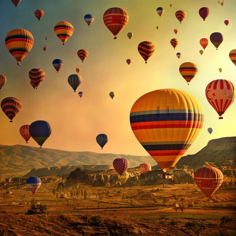 Hot Air Balloons in Cappadocia, Turkey