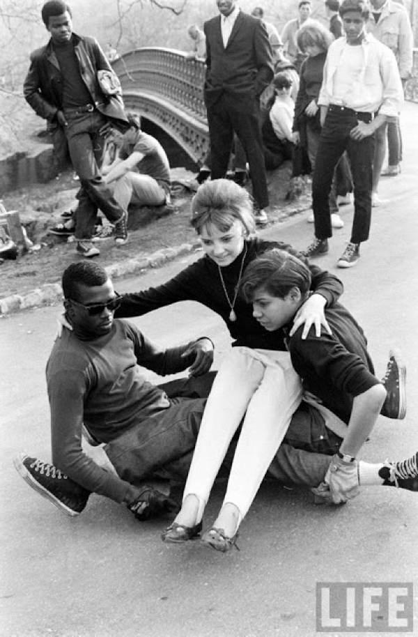 Skateboarding Kids Girl Being Helped