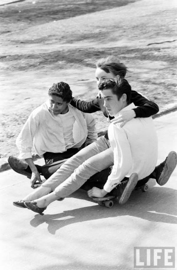 Skateboarding Kids Friends