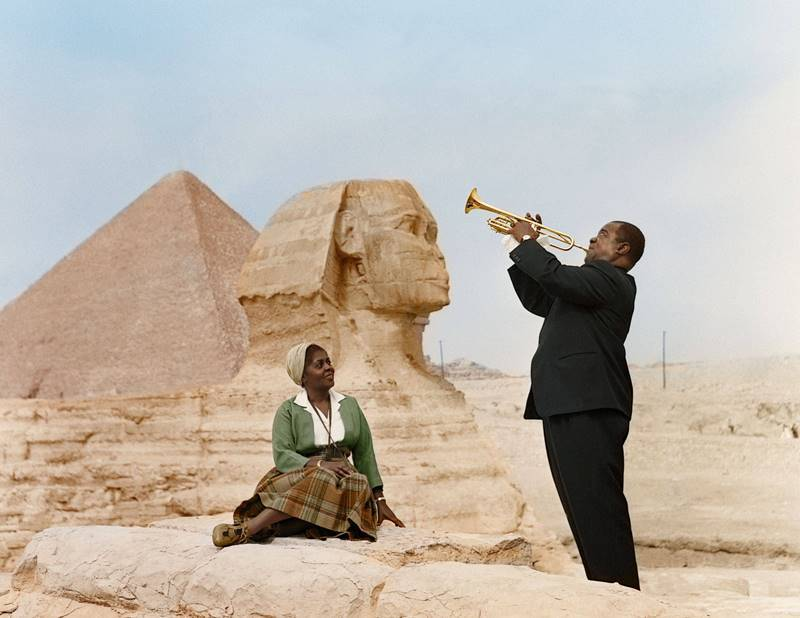 Louis Armstrong Playing At The Sphinx