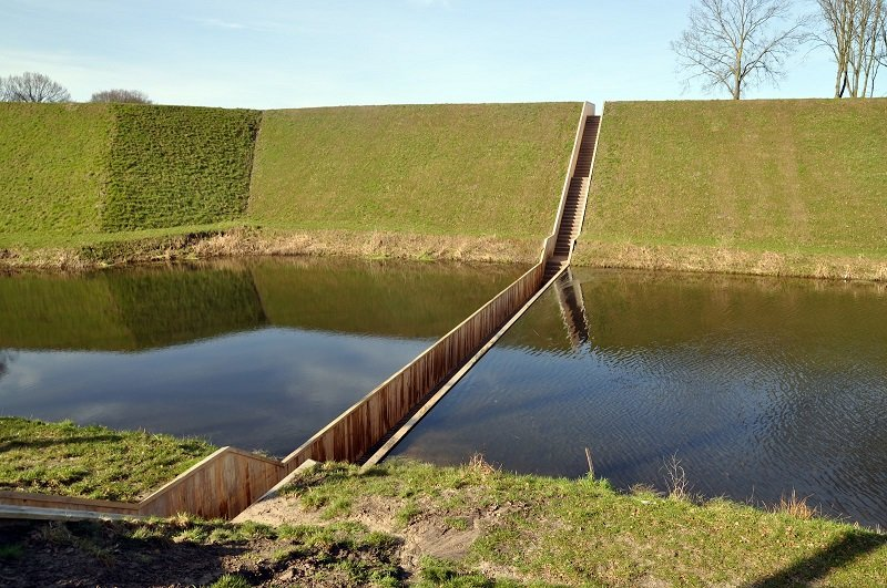 Moses Bridge In The Netherlands