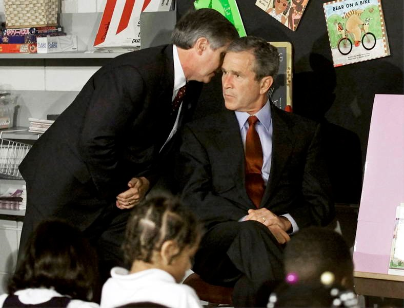 Bush Reacts To News Of September 11th Attacks