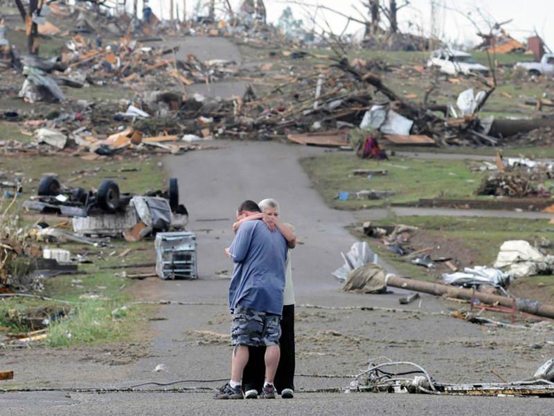 Family Hug After Tornado Influential Photographs