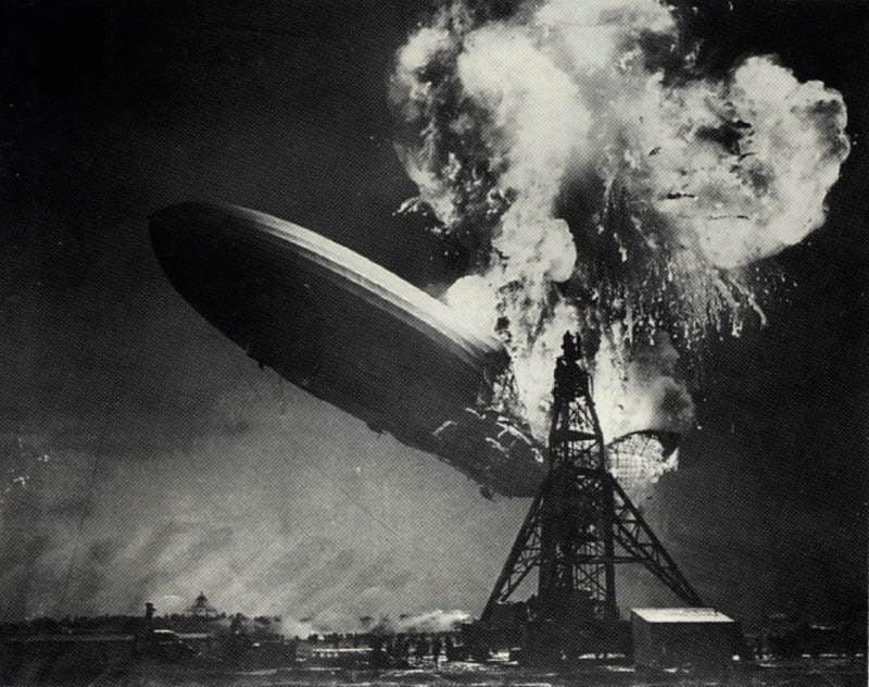 Famous Photos Hindenburg Disaster