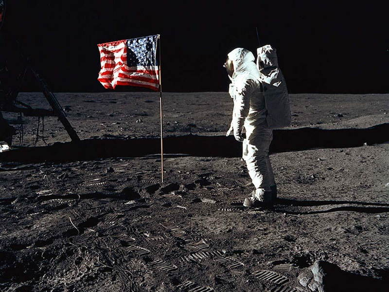 Influential Photographs Man On Moon