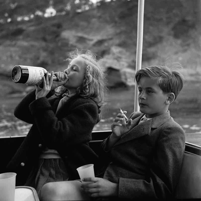 Princess Yvonne And Prince Alexander In 1955