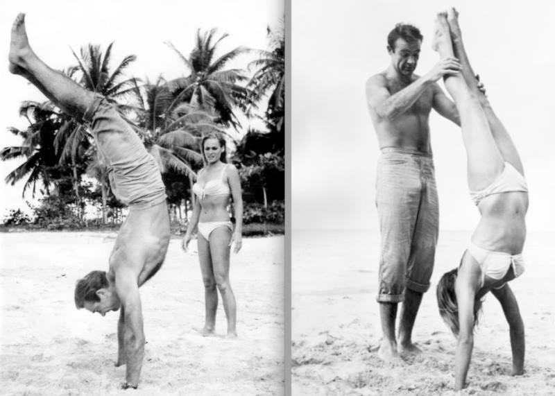 Sean Connery Teaches Handstands