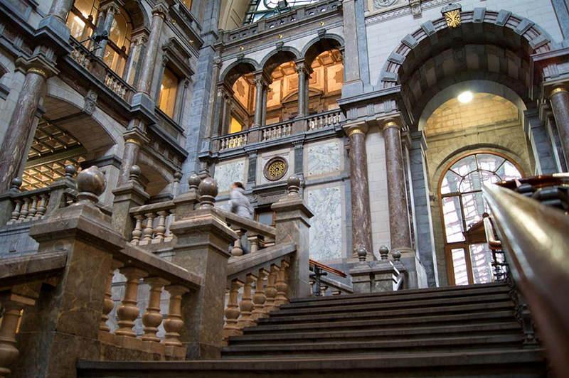 Train Stations Belgium Stairs