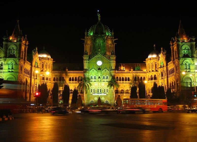 Train Stations Shivaji Terminus Green Red