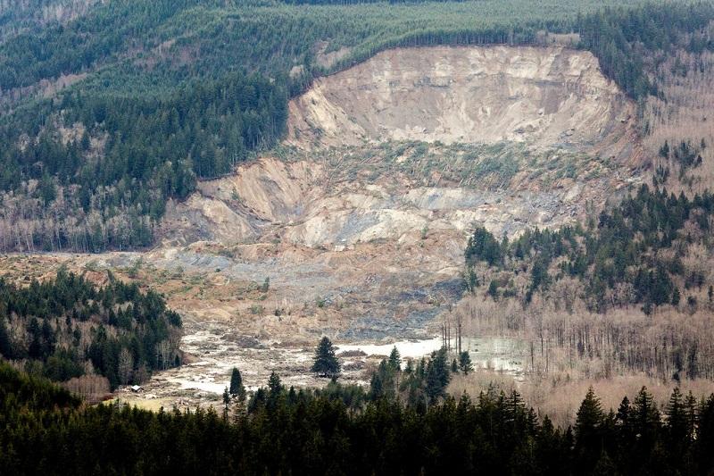 Aftermath of Washington Mudslide