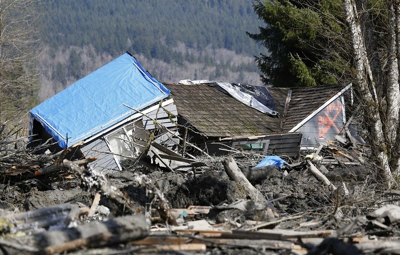 Destroyed Home in Washington