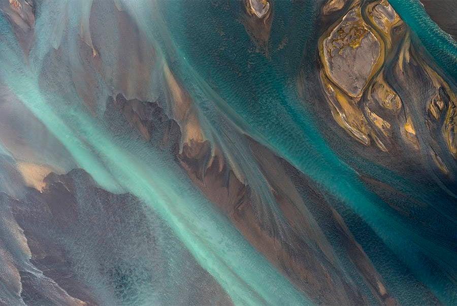 Volcanic Rivers Aqua Texture