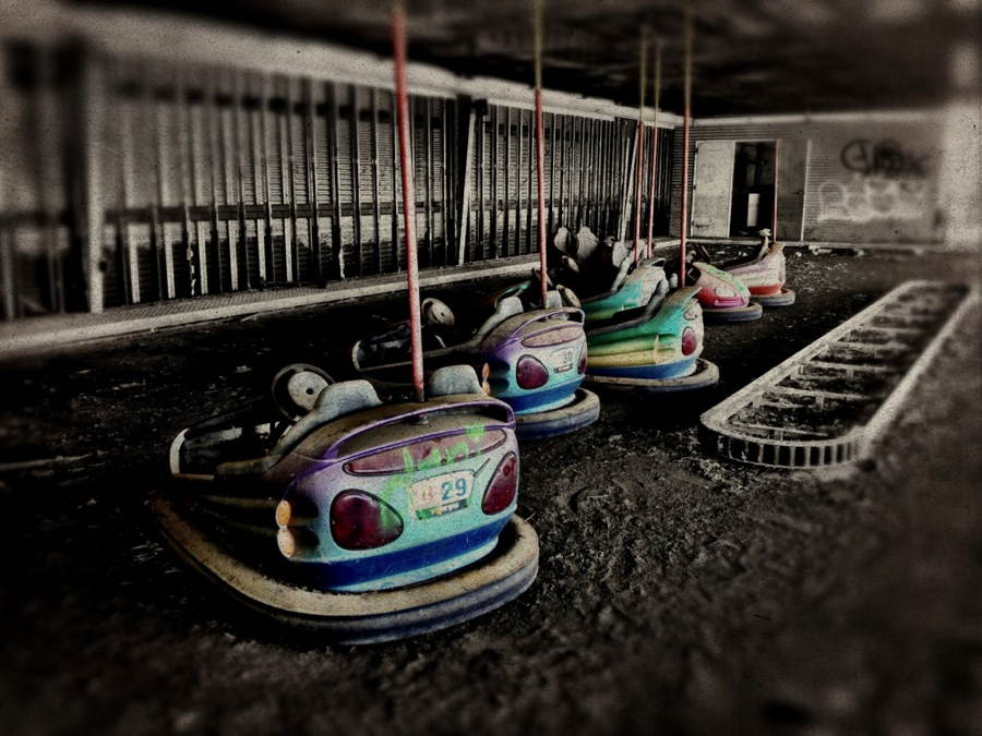 Abandoned Six Flags Bumper Cars