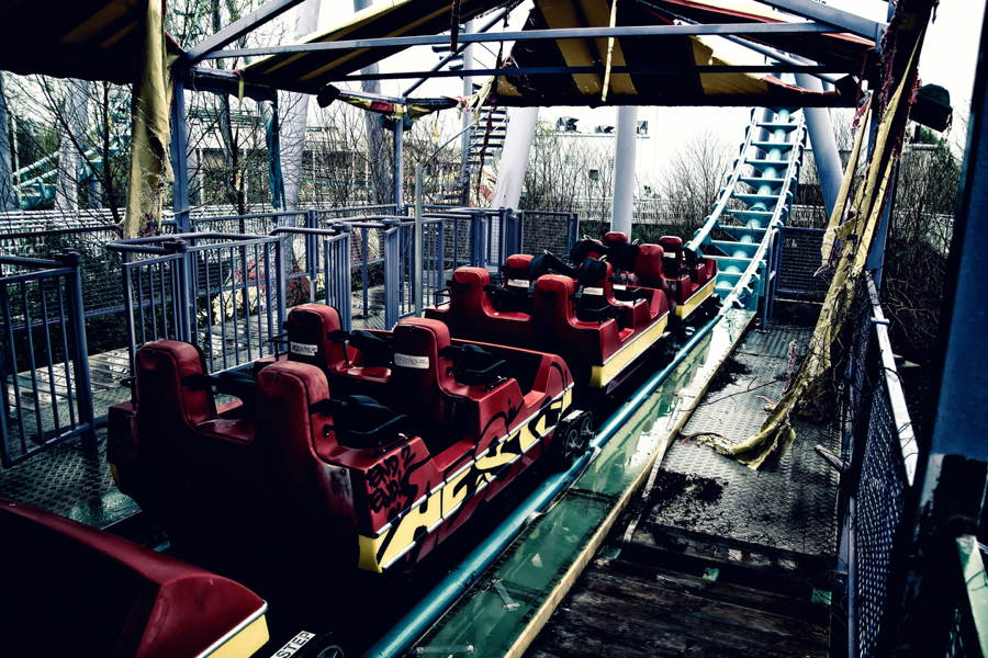 Abandoned Structures Six Flags Ride