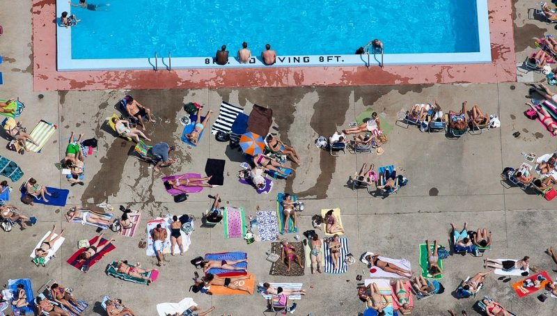 Alex MacLean Captures Overhead Pool Shot