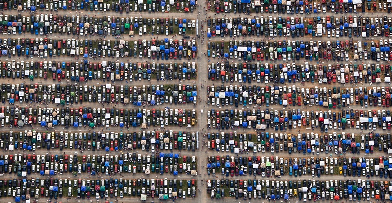 Parking Lot Aerial Photography