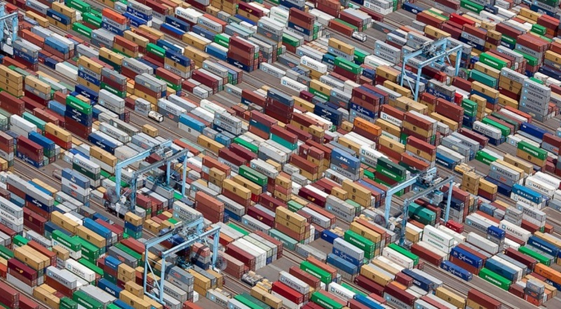 Shipping Yard Bird's Eye View