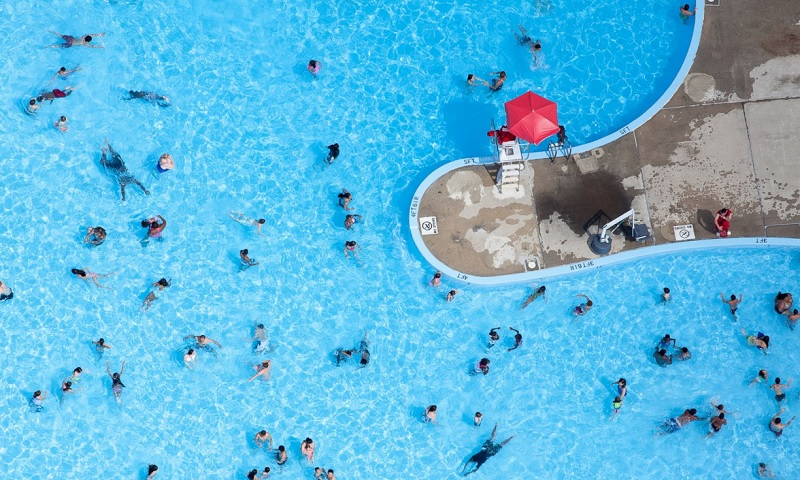Swimmers in Aerial Photography